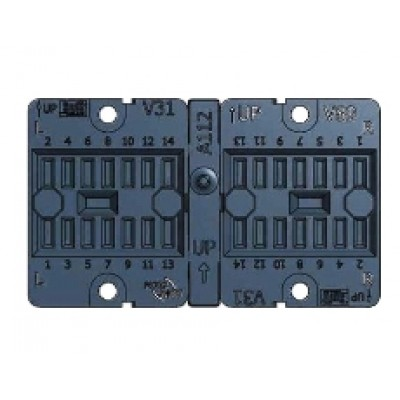 V89 socket - Faston terminal, panel mount 8 pole
