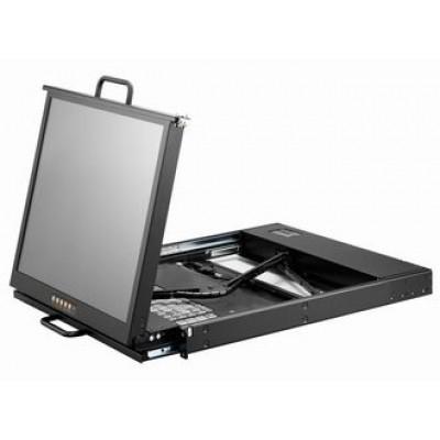 (아리시스)19인치 랙마운트 듀얼슬라이드 LCD KVM 콘솔 (1포트/USB/KR) 모니터/터치패드/LCD/KVM/AMK-701